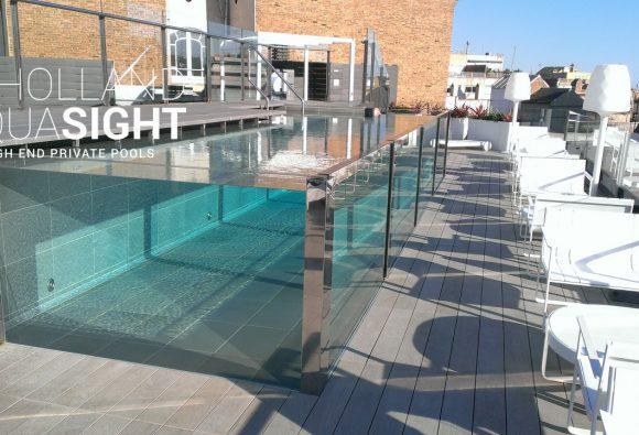 transparante zwembadwanden, acrylic underwater windows